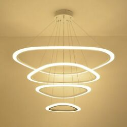 Chandelier Round Led Bulb Lamp Hanging Light Ceiling Fixtures Shadeless For Home