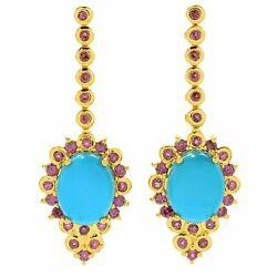 Victoria Wieck Collection 1.25 10 X 8mm Sleeping Beauty Turquoise And Rhodolite D