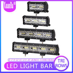 9'' 12 15 20 Inch Led Light Bar Flood Spot Offroad 4wd Driving Lamps Truck Suv