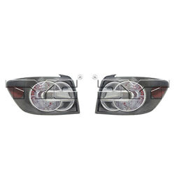 Fits 2007-2009 Mazda CX-7 Tail Light Driver Passenger Pair CAPA w/Bulbs