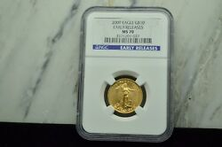 2009 10 Gold American Eagle 1/4 Oz Ngc Ms70 Early Releases -perfect Coin