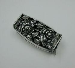 Victorian Rose Toothbrush Holder Sterling Silver Flowers Repousse Belle Epoque
