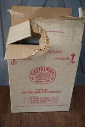 Lot Of 2 Gettelman Double Hopped Beer Lighted Neon Sign In Original Box New