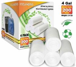 CCLINERS 4 Gallon Clear Small Garbage Trash Bags 200 Count $16.99