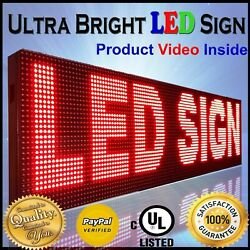 Wifi Mobile And Pc App Programmable 25 X 88 Red Color Outdoor Business Led Sign