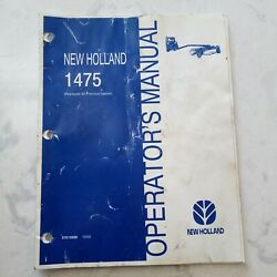 New Holland 1475 Haybine Operator's Manual - Owners Manual 87019556 Nh