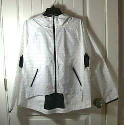 NWT WOMENS OAKLEY WHITE HYDROFREE PERFORMANCE LIGHT JACKET ZIP HOODIE SZ SMALL $40.80