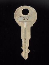 Ignition Switch Key 2c From Remy Series 1a-4cx, 1920's Vintage Olds Auburn