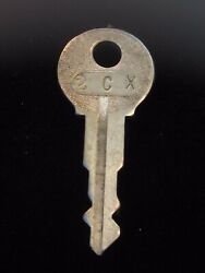 Ignition Switch Key 2cx From Remy Series 1a-4cx, 1920's Vintage Olds Auburn