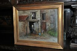 Lovely Vintage Painting By Well Listed Artist Robert Maione 1932 - 1987