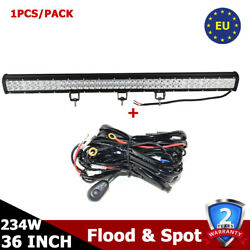 36inch 234w Cree Led Light Bar Off-road Driving Combo Truck Atv Lamp With Wire