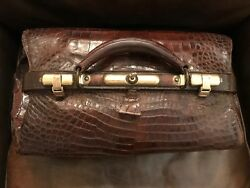 Alligator And Brass Antique Doctor Bag Beautiful