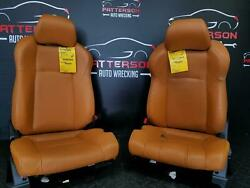 2003 NISSAN 350Z FRONT DRIVER LEFT & PASSENGER RIGHT BUCKET SEATS LEATHER BROWN