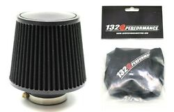 1320 Perf Fab 4 Universal Air Filter Cone Reusable Black And Pre Filter