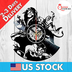 Disney Lion King Simba Vinyl Record Wall Clock Bedroom Art Decor Birthday Gift