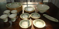 Vintage Lenox Holiday Dimensions Christmas China Lot Of 26 Pieces