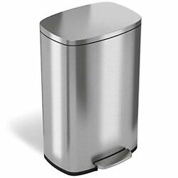 iTouchless SoftStep  Stainless Steel Step Trash Can with Odor Control