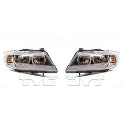 Fits 2009-2011 BMW 328i Headlight Driver and Passenger Side CAPA w/Bulbs