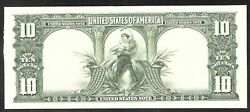 Proof Print By The Bep - Back Of 1901 10 Us Bison Note