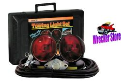 Magnetic Tow Lights Incandescent W/ Case-wrecker Tow Tuck Car Carrier Flat Bed