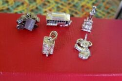 Vintage Sterling Silver Five Charms5tombstone Arizona,chicago Water Tower