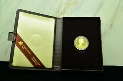 1983 Canada 100 Gold Proof Gilberts Landing Commemorative Coin W/ Case Km139