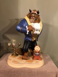 Disney Auctions Big Fig Beauty And The Beast Lumiere Cogsworth Figurine Figure