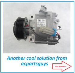 New Oem Gm Delco Ac Compressor Qs90 Chevrolet Sonic 95059819 With Heat Switch