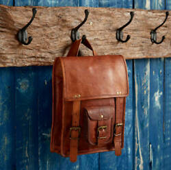 New Bag Leather Vintage Messenger Shoulder Men#x27;s Satchel Laptop School Briefcase $34.19