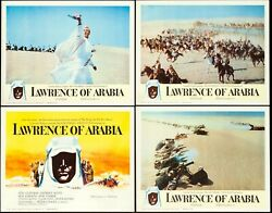 Movie Posters Lawrence Of Arabia 1962 Lobby Card Set Of 8 11x14 Vf+ 8.5