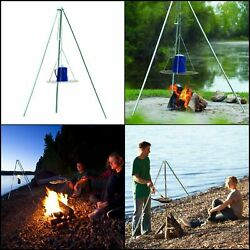 Heavy Duty Campfire Tripod Grill Campsite Camping Cooking Beach Party Outdoor