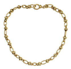 Estate Pomellato Statement Oval Link Chain Necklace In 18k Yellow Gold 17