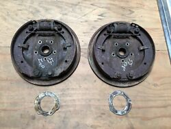 1955 55 Imperial Rear Brake Brakes Shoes Shoe Backing Plate Assembly Pair Wheel