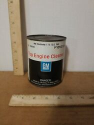 Vintage Gm Top Engine Cleaner Pt 1050728 1 1/2 Pint Can Chevy Olds Buick Rare