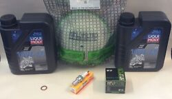 Service Kit For Drz400 Liqui Moly Oil Air And Oil Filter Spark Plug Sump Washer