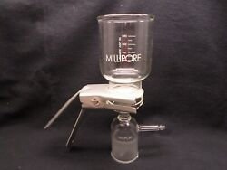 Millipore 300ml All-glass Classic Fritted Filter Holder Kit 47mm No Flask Damage