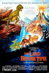 The Original The Land Before Time Movie Poster 1988 Hand Out In Mint Condition