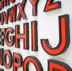 Vintage Cinema Letters / Numbers Large 11 Inches Shop Sign Reclaimed Old