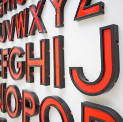 Vintage Cinema Letters / Numbers Large 11 Inches, Shop, Sign , Reclaimed, Old