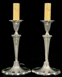 Antique Historic The Commodore Hotel New York City Gorham Silver Candle Lights