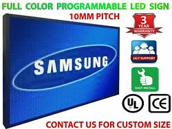 Wi-fi Mobile App Programmable Full Color 25 X 88 Led Sign Outdoor Open Display
