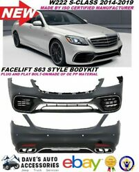 Replacement Mbenz W222 S Class Amg Style 2018+ S63 S65 Kit Front Rear Bumper