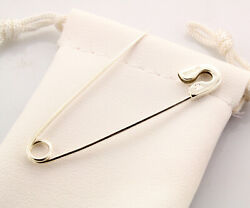 Large Sterling Silver Safety Pin 2'' Sterling Silver Diaper Pin Handmade In Usa