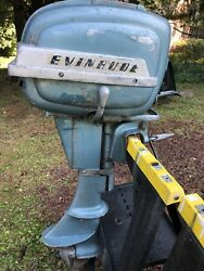 Evinrude1954 -9.9 Outboard Gas Boat Motor With Original Gas Tank