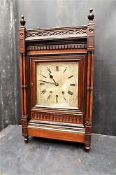 Bracket Musical Clock On Eight Bells Strikes The Hours On A Main Gong.