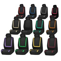 Auto Seat Covers For Car Truck Suv Van - Universal Protectors Polyester 12 Color