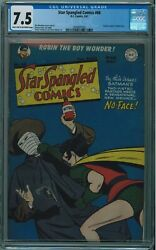 Star Spangled Comics 66 Cgc 7.5 Very Seldom Seen/sold In Any Cgc Grade Lt/ow Pg