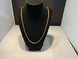 24K .999 FINE GOLD Thai Baht Gold Anchor Style Chain Necklace 44.77 Grams