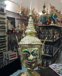 Rama  Mask Khon Thai Handmade Ramayana Collectible