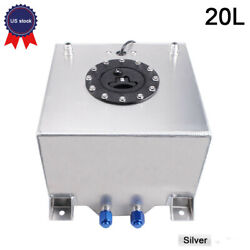 20l Aluminum Fuel Surge Tank Oil Catch Can With Sensor Fuel Cell With Cap/foam